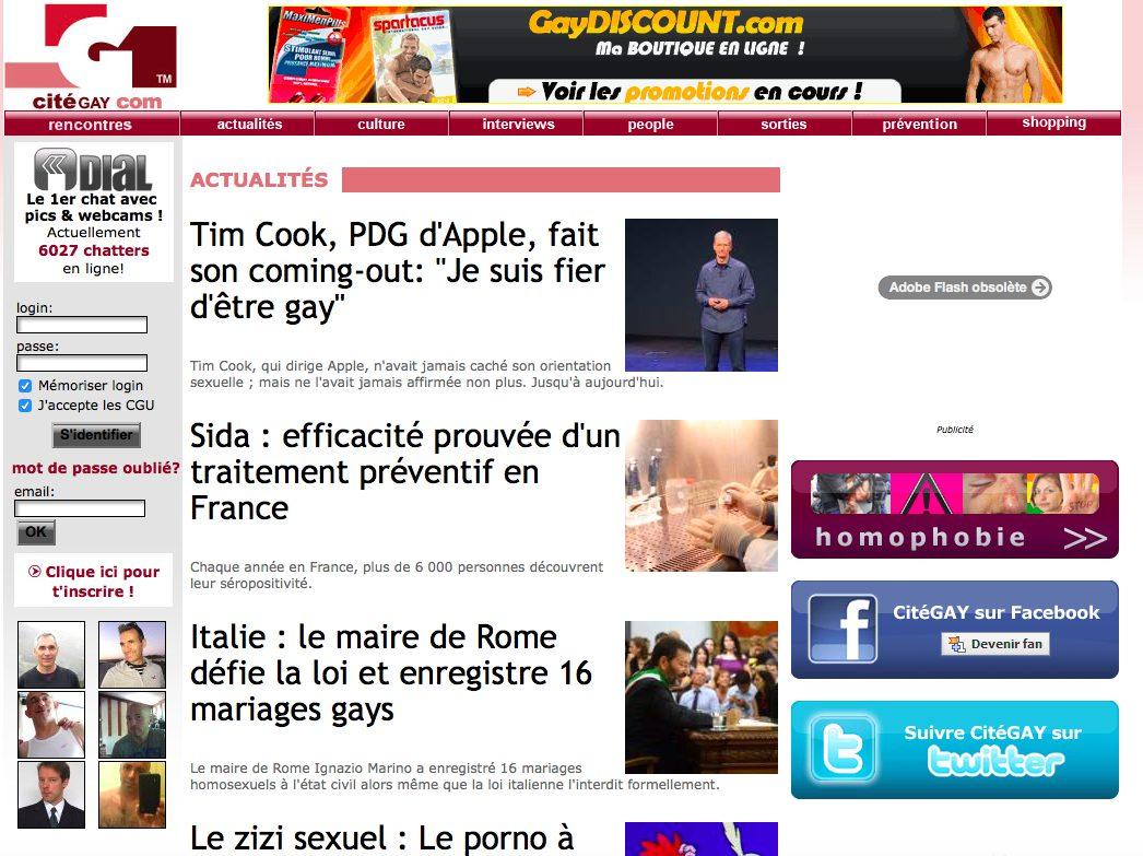 Avis CitéGay : Notre test et revue du site de rencontre gay