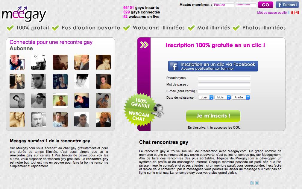 Page d'accueil de Meegay France