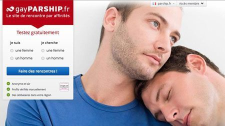 Parship pour la communauté gay en France.