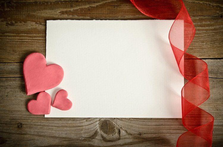 Une lettre d'amour pour la Saint Valentin.
