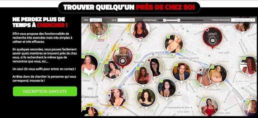 Xflirt : visualiser dans quelle région se trouvent les célibataires.