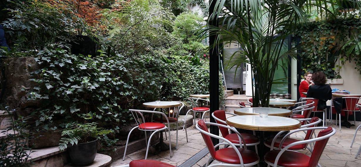 Hotel amour à Paris, une terrasse magnifique.