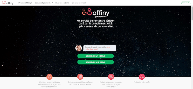 Avis et test de Meetic Affinity